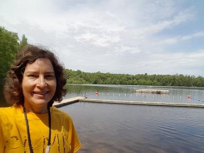 Joan at 4-H Camp