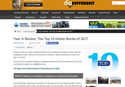 Magazine article Top 10 list