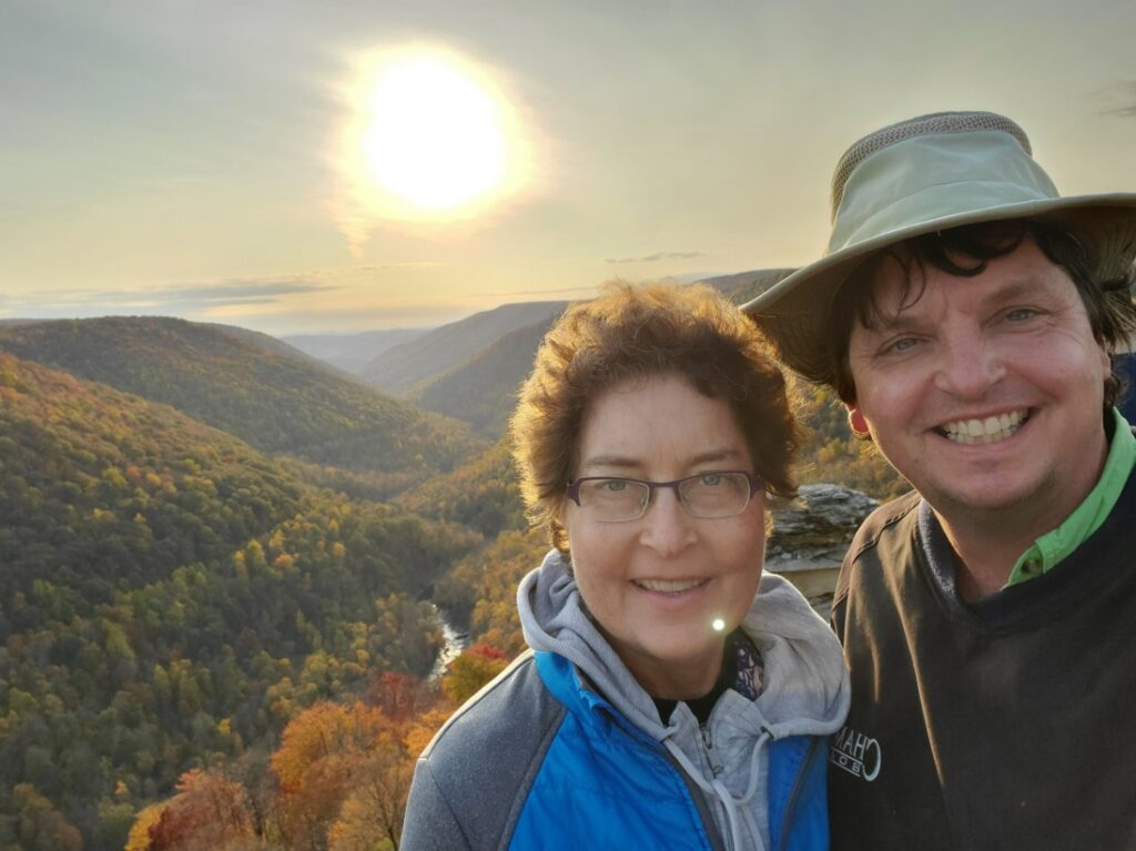 mountaintop in West Virginia is reminder of blogging strategies